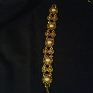 Vintage LJM marked inside gold tone bracelet